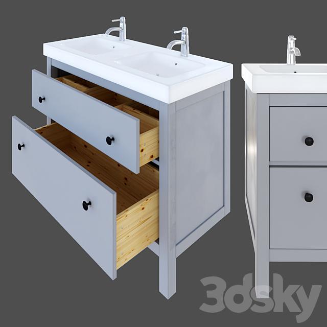 3d Models Bathroom Furniture Ikea Hemnes Wash Basin