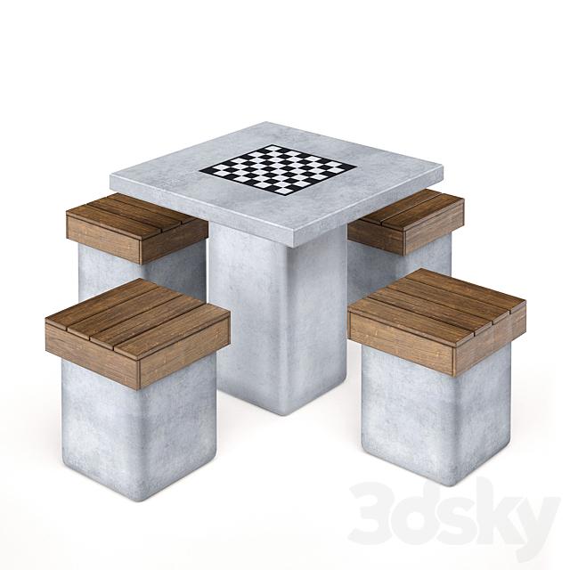 """Street table """"Lotus"""" Adanat (set)"""