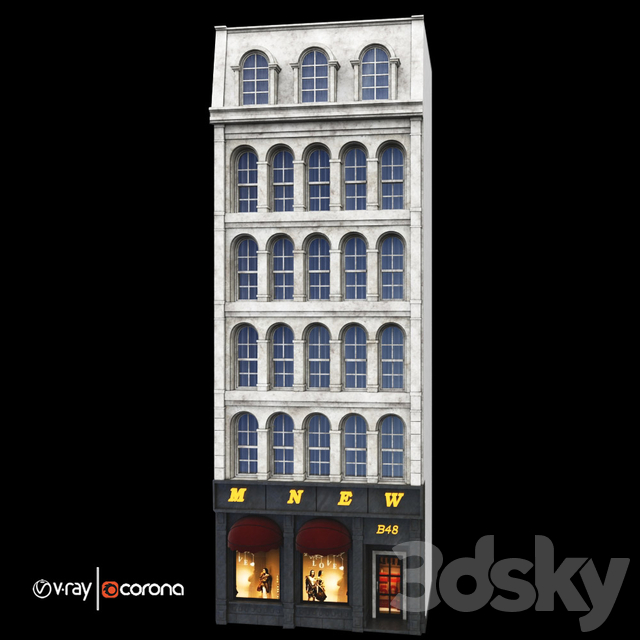 classic residential building volA3-  Luxury Store