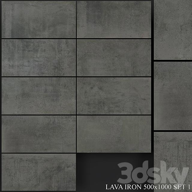 Grespania Coverlam Lava Iron 500x1000 Set 1