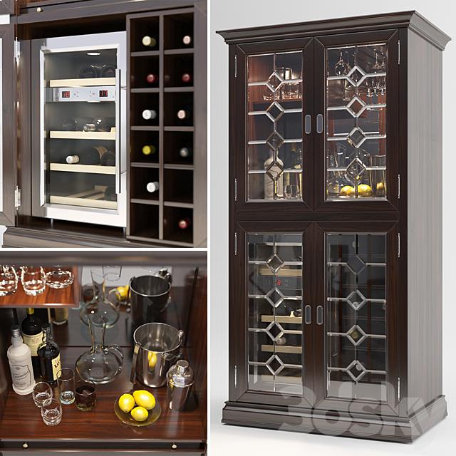 Firenze Wine and Spirits Armoire Bar