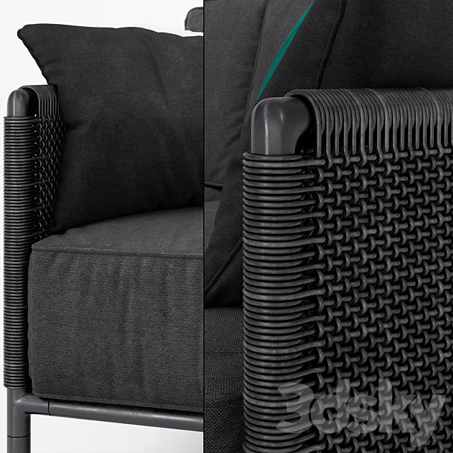 Encore Modern Garden 2-seater sofa