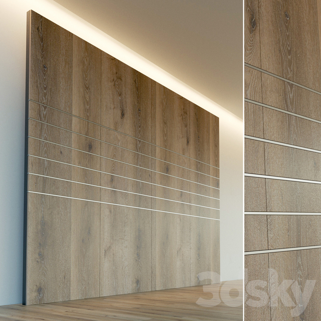 Wall panel made of wood. Decorative wall. 48