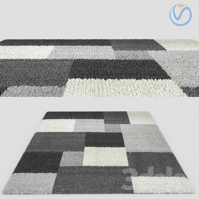 Modern Fur Rug Carpet Flat Weave