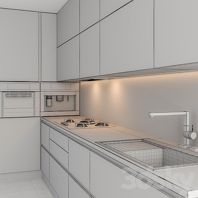 Kitchen L Modern Black and Woodd
