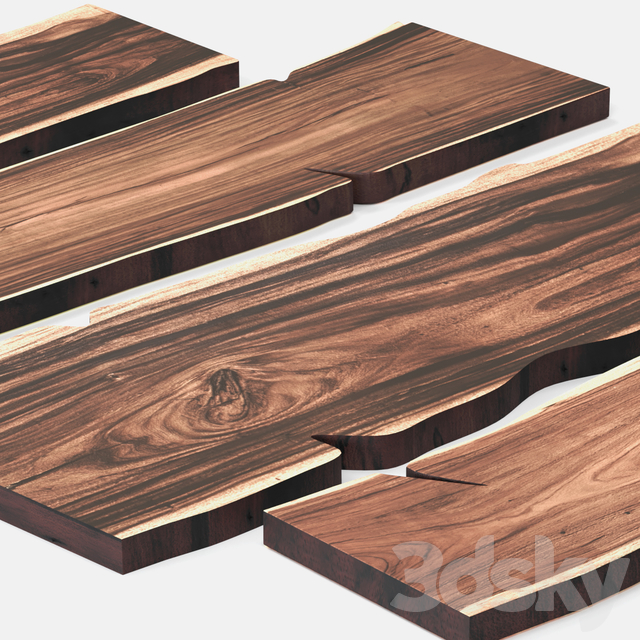 Slabs of wood