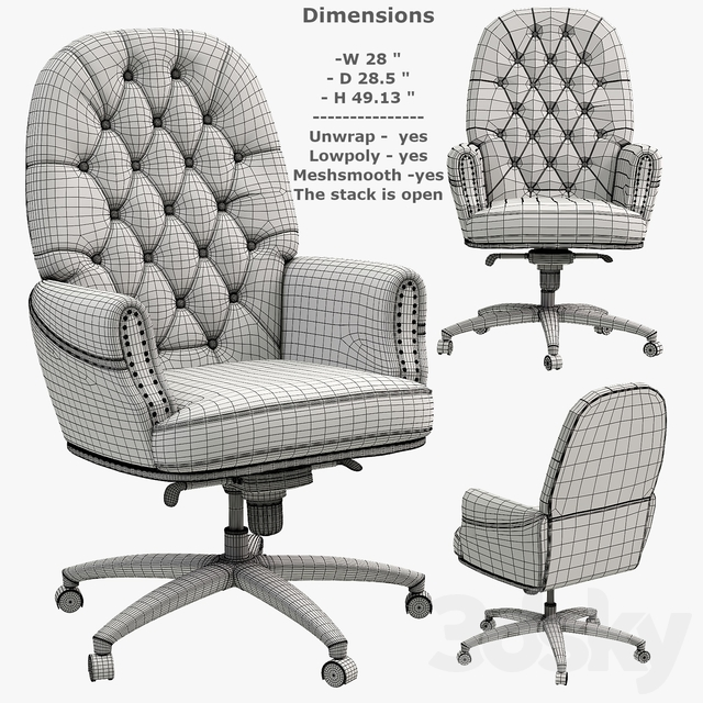 Swivel Office Chair with Arms
