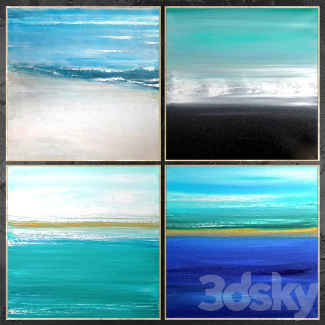 Paintings abstract | set 453