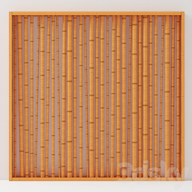 Branch bamboo wall