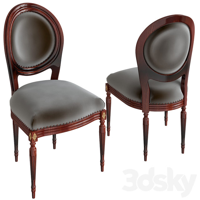 French chairs Louis XVI Atelier emerald