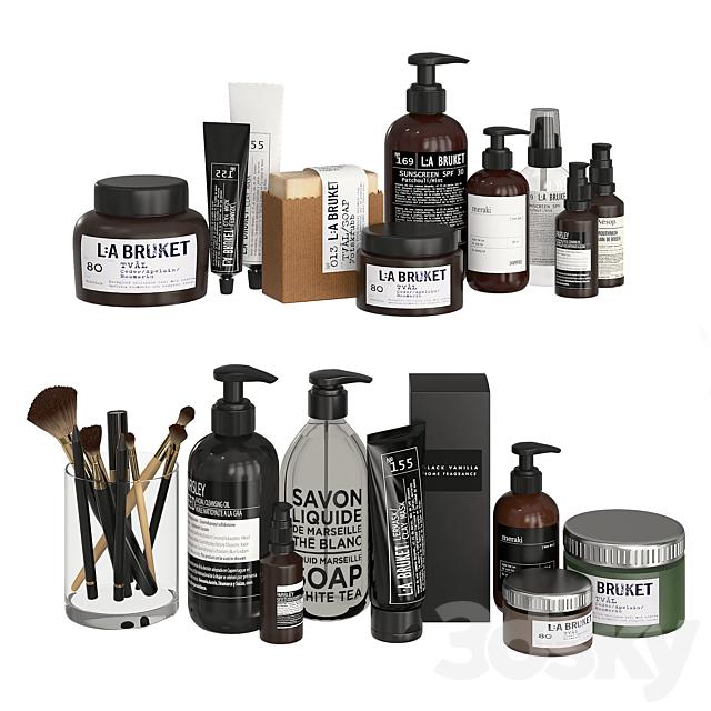 Bathroom Decor Accessories and Cosmetics - Dark