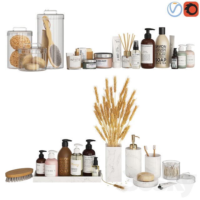 Bathroom Decor Accessories and Cosmetics - Light
