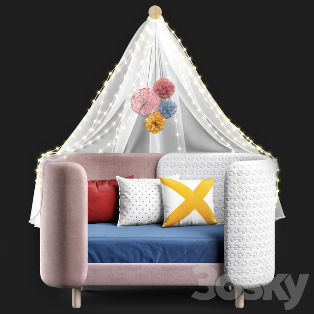 Dot and cross bed