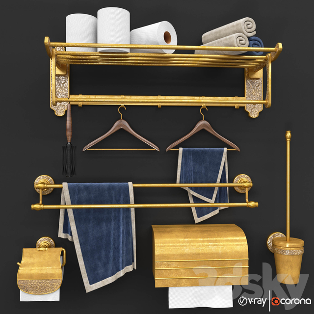 Furniture and decor for bathroom vol1