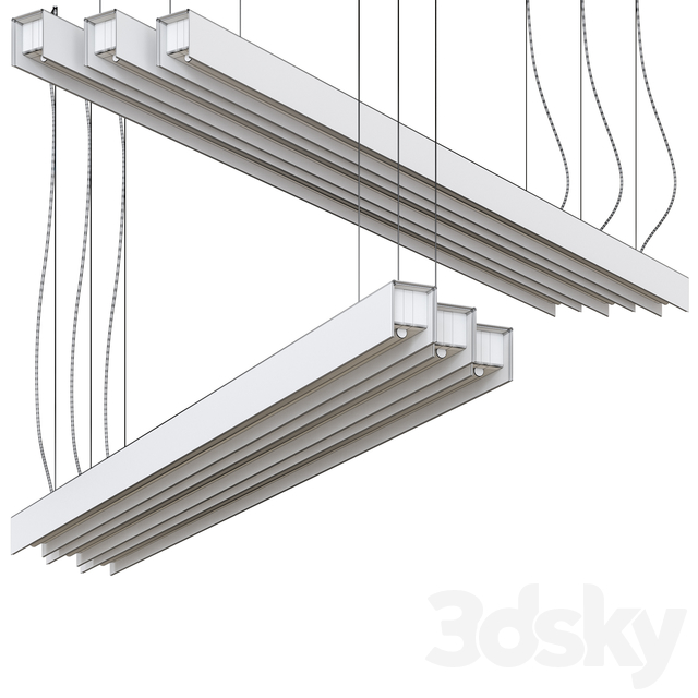 United 1x Suspended Lamp GI by Modular Lighting Instruments