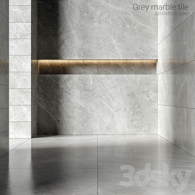 Gray marble tiles 3