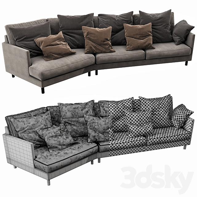 Fabrili angle sofa