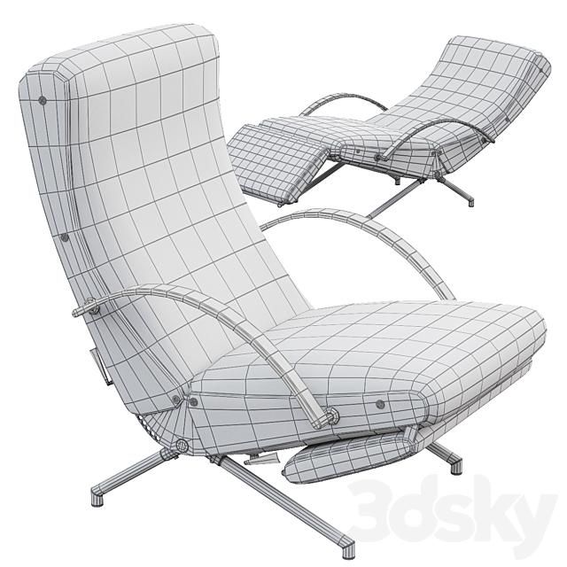 AVE TECNO P40 Lounge Chair by Borsani 1950