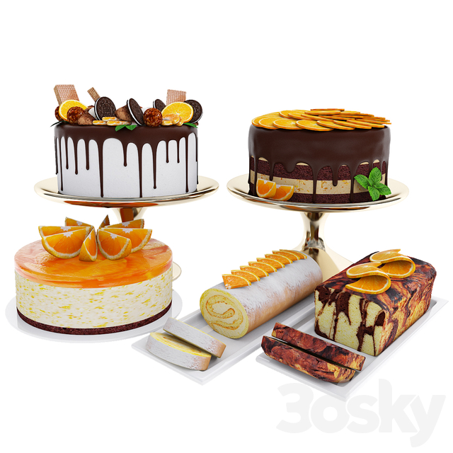 Orange cake collection 4