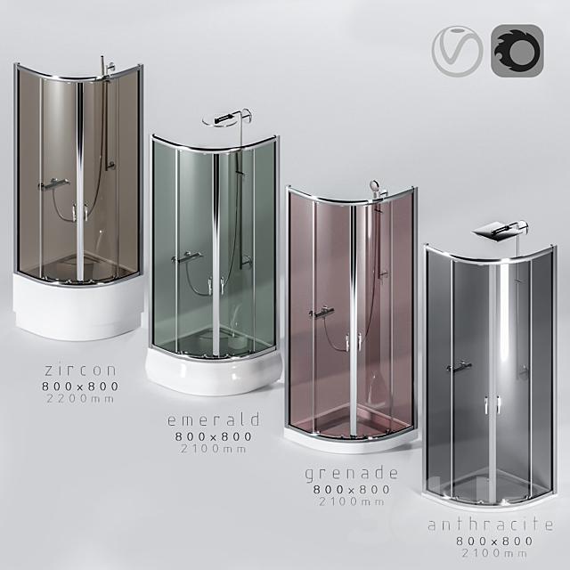 Shower Cabins 4pcs