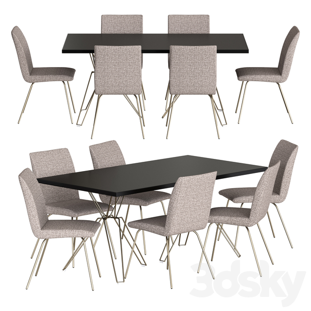 NV Gallery Set Harvey Chair And Blofeld Table