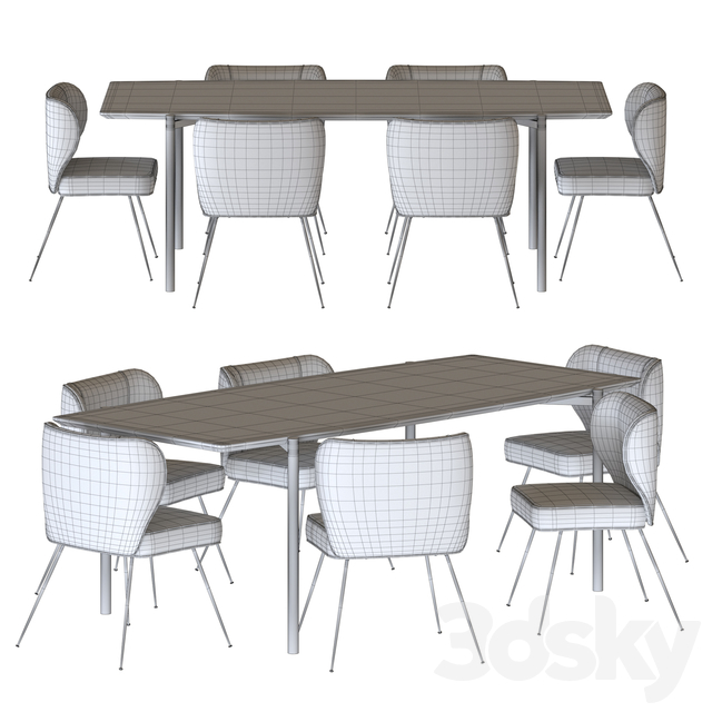 NV Gallery Set Wayne Chair And Milano Table