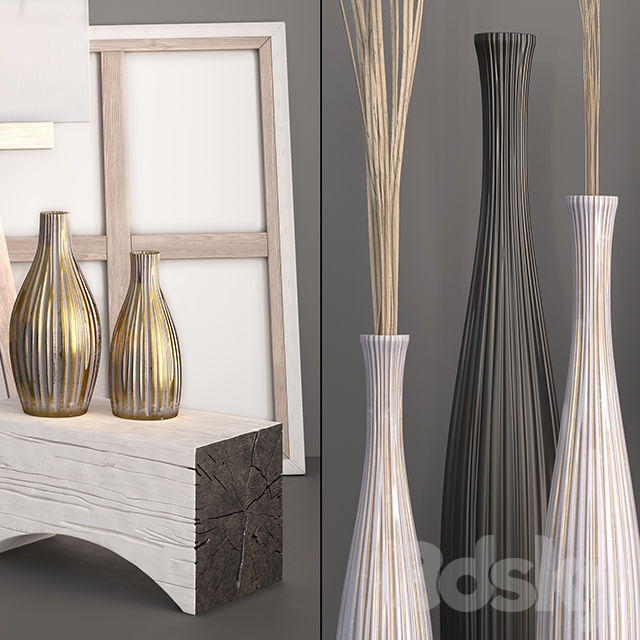 Decor - Vases, Dry grass, Statuette