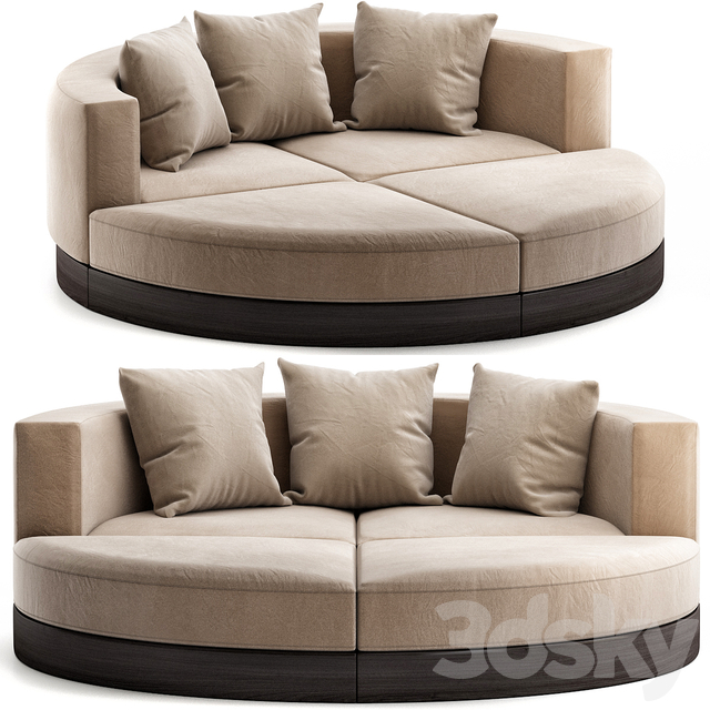 Sofa Curved Sofas Ottoman Sleeper Bed