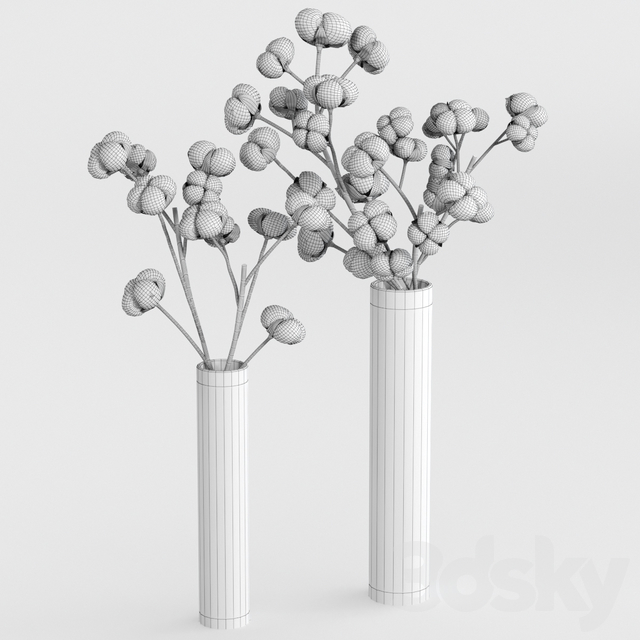 Cotton bouquets