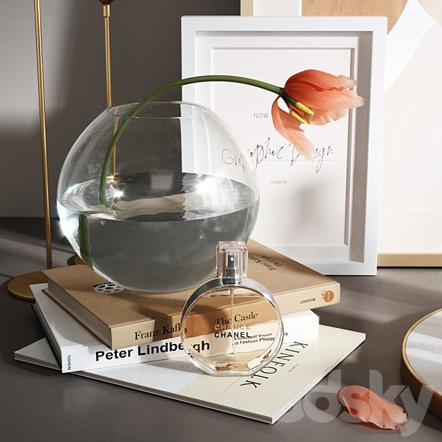 Decorative set with Tulip