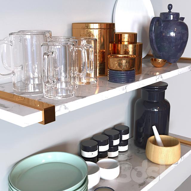Marble kitchen set