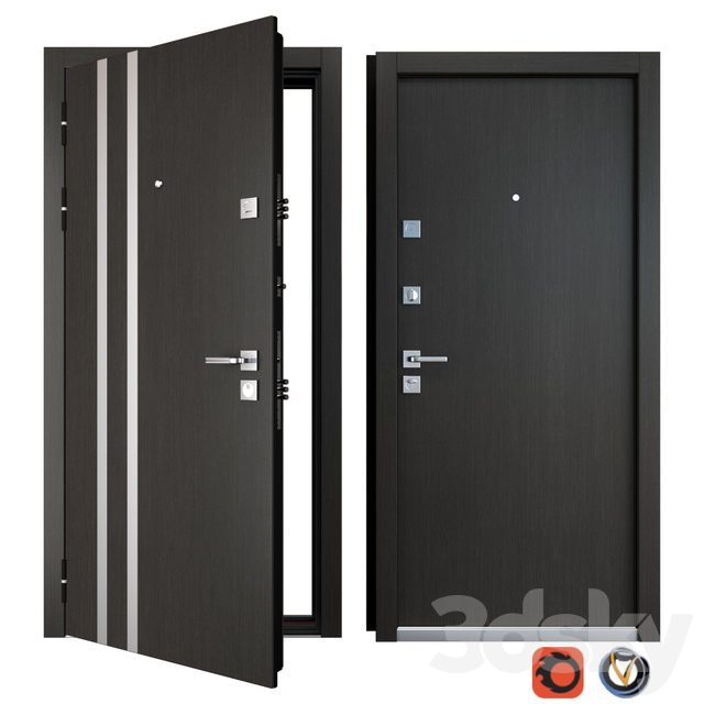 Entrance metal door Parallel (Zimen)