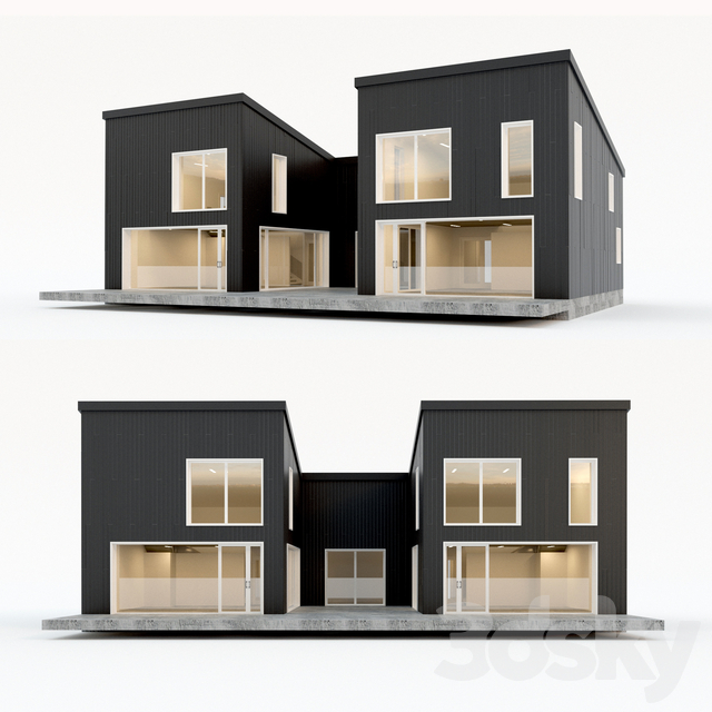 Two-storey residential building. Prefab house. 6