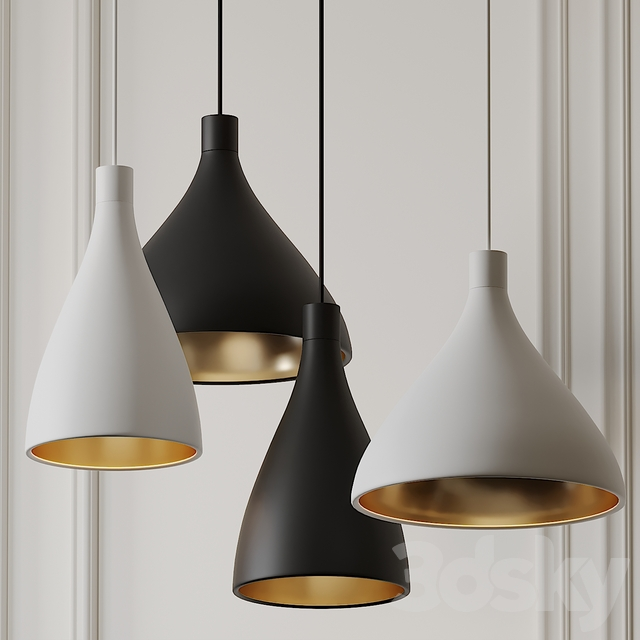 Swell Narrow and Medium Pendant Lights by Pablo Studio