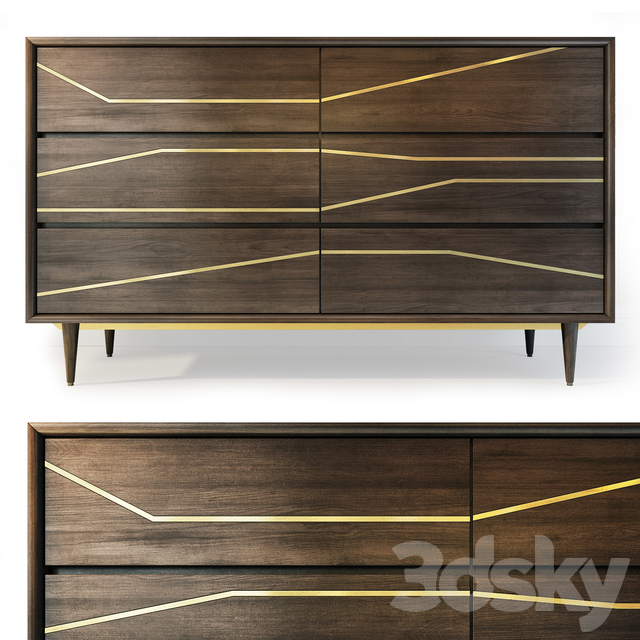 Dresser and nightstand Granjeno. Dresser, bedside table by Brayden Studio