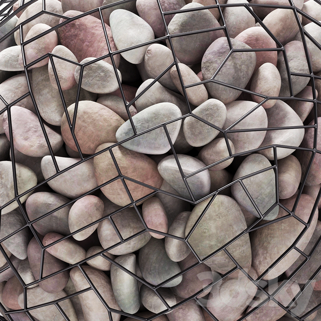 Gabion sphere pebble