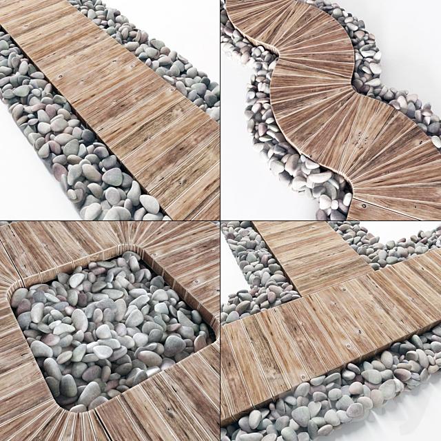 Pebble lawn flooring