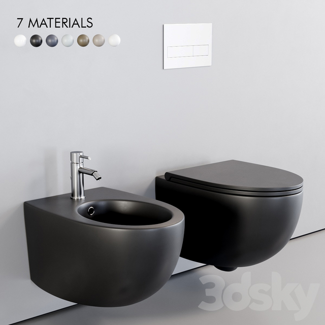 Esedra by SDR Ceramiche Bull Wall-Hung WC