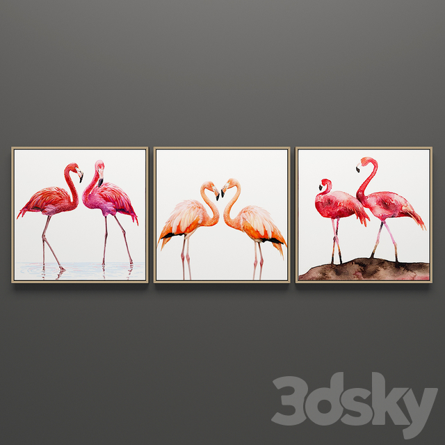 Set of triptych paintings 3