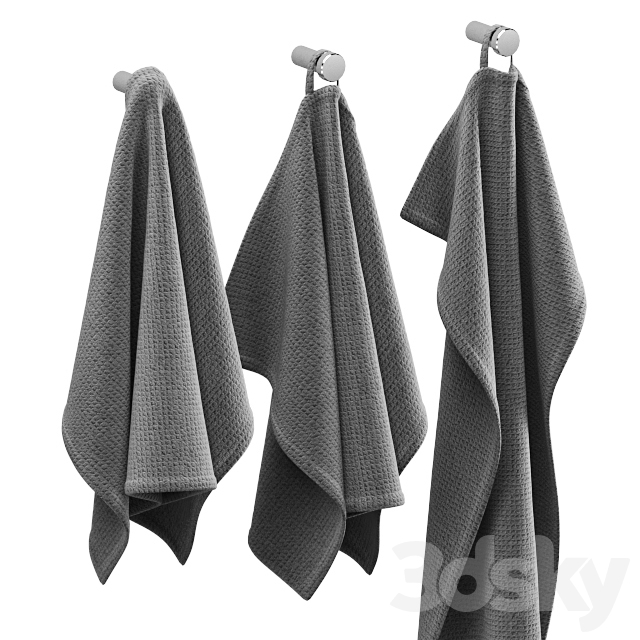 KITCHEN TOWELS GRAY