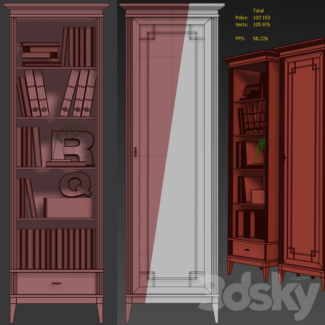Wardrobe / Showcase Manhattan. Showcase / bookcase by Wonderwood