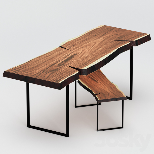 Tables made of slab.