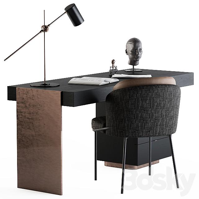 Minotti carson writing table