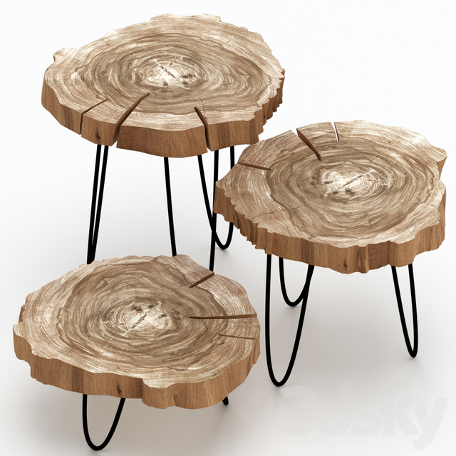 Coffee tables made of slab