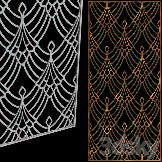 Metal decorative grille