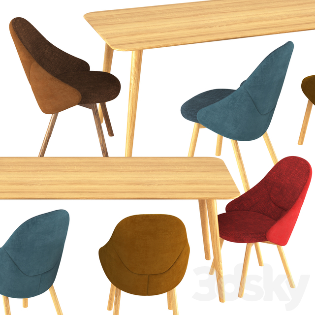 Alba Chair and Table Malmo by TON