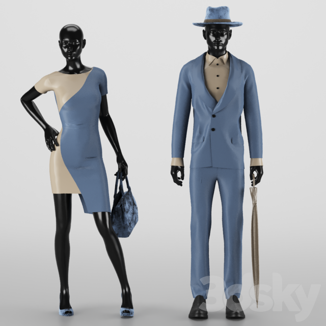 Women And Men Dress Set NO.4