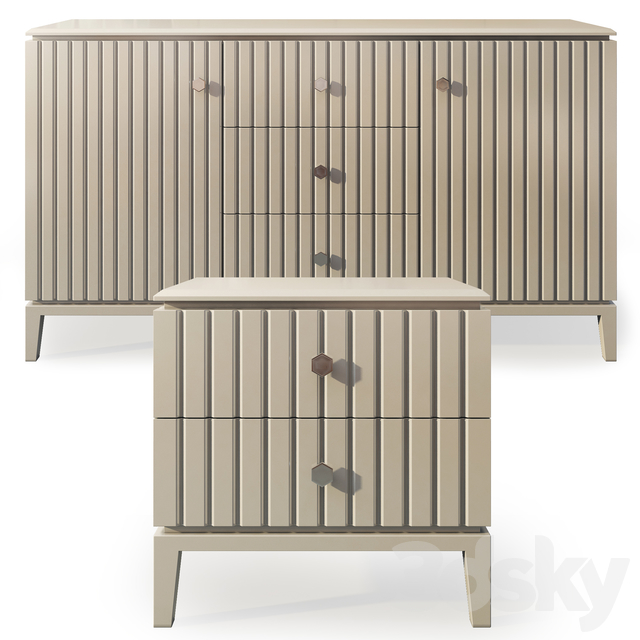 Chest and nightstand Miller. Sideboard, nightstand by ICON Design