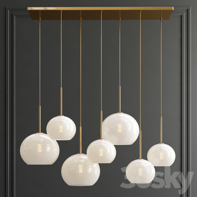 Giopato Bolle & Sculptural Glass Chandelier