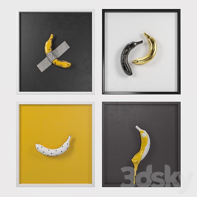 Banana art composition